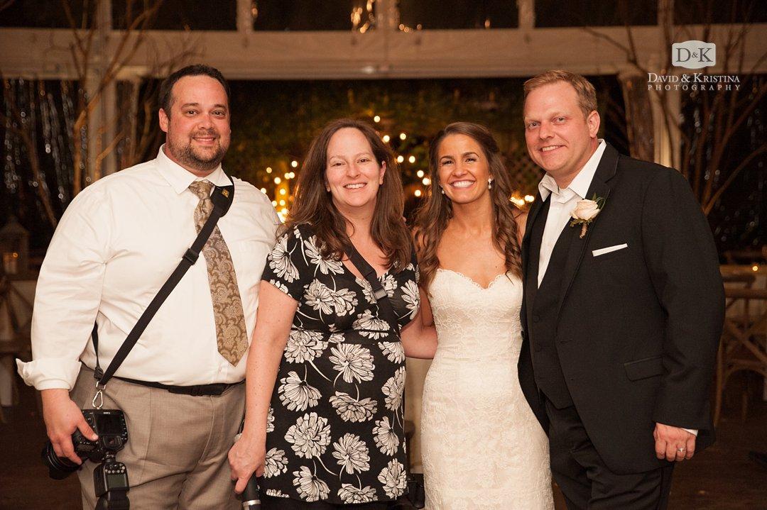 David and Kristina Junker with Trevor and Kim Higgins