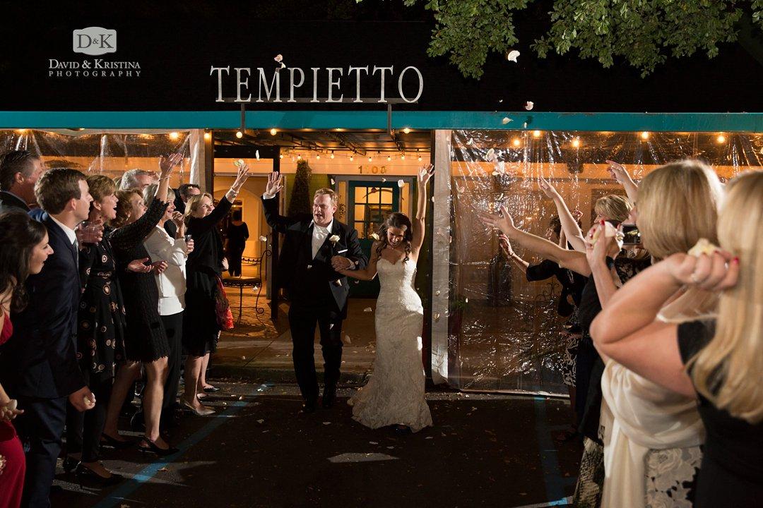 Twigs Tempietto flower petal exit