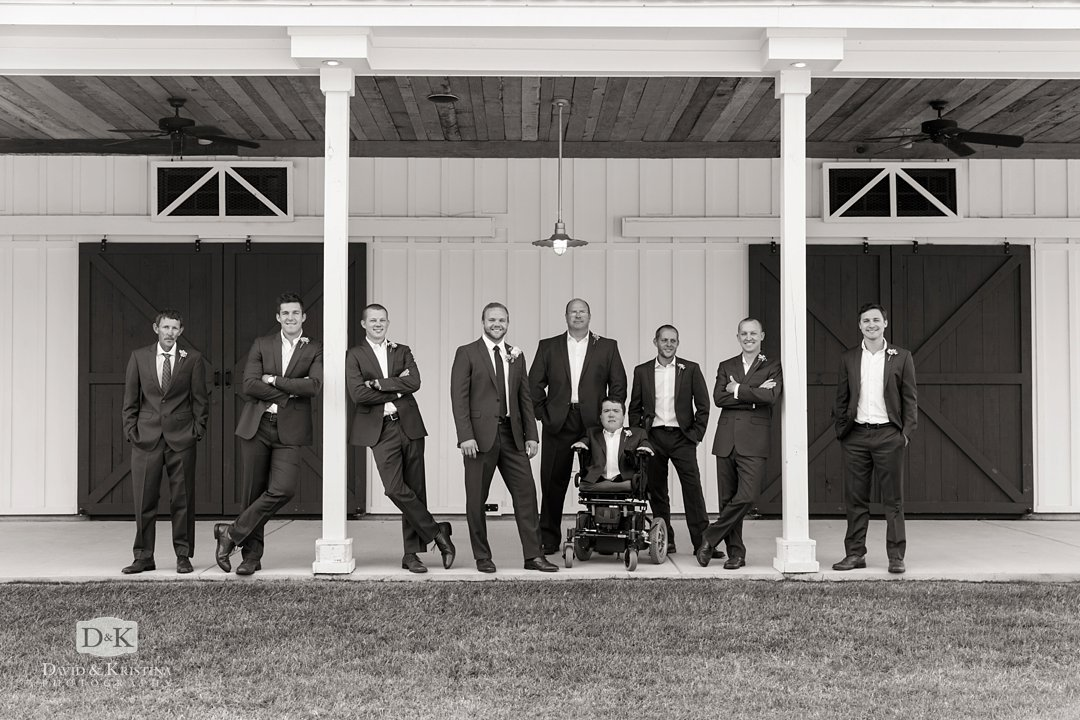 Groomsmen at Wildberry Farm wedding