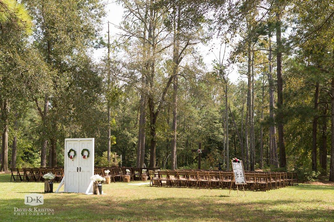 Wildberry Farm outdoor wedding ceremony site