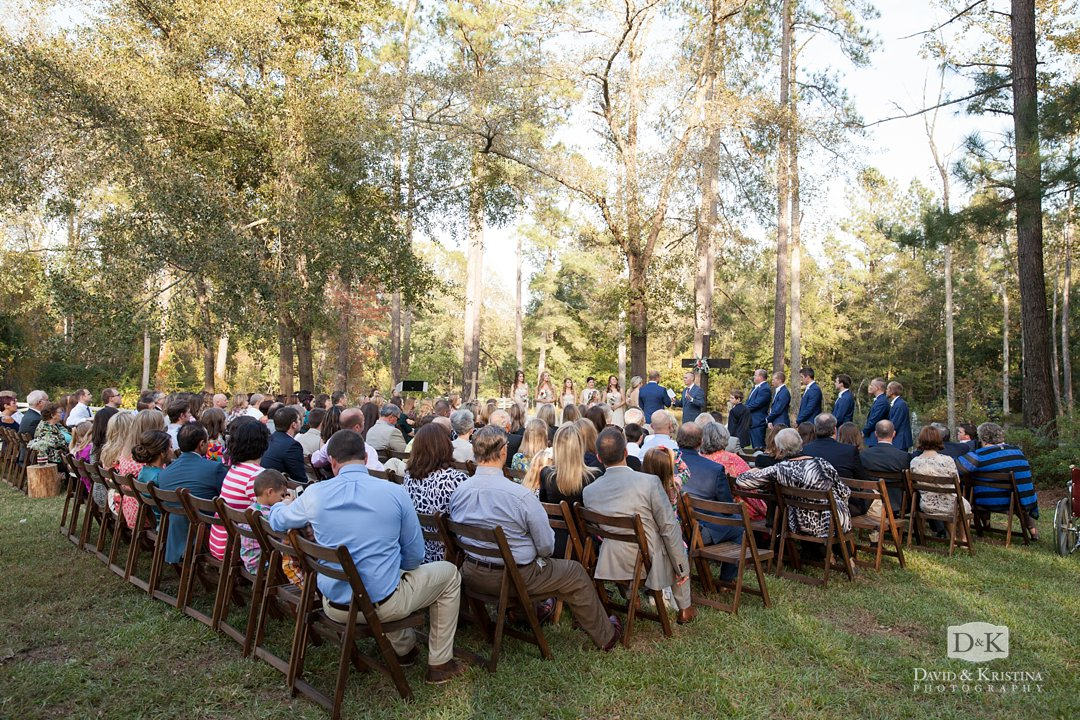 outdoor wedding ceremony at Wildberry Farm