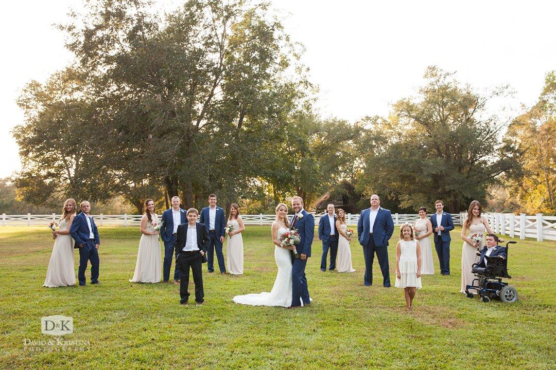 wedding party at Wildberry Farm