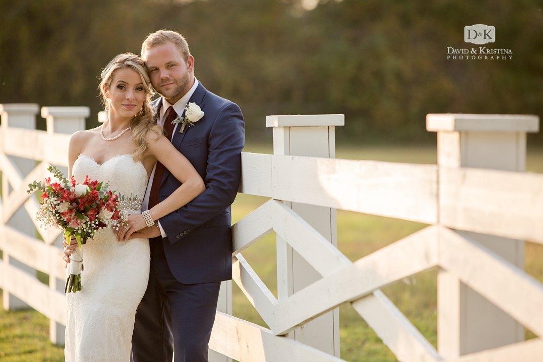 Wildberry Farm wedding photo of bride and groom