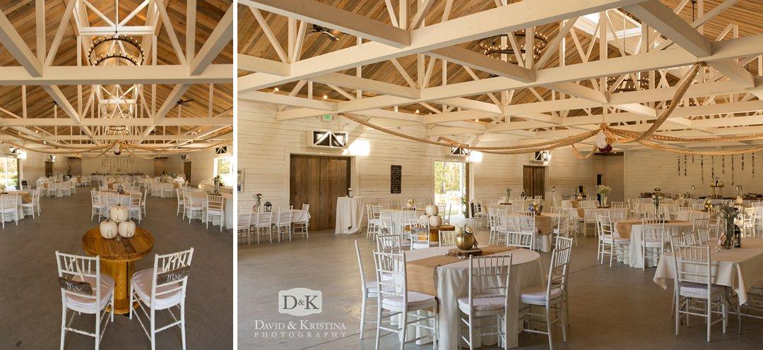 barn wedding reception Wildberry Farm