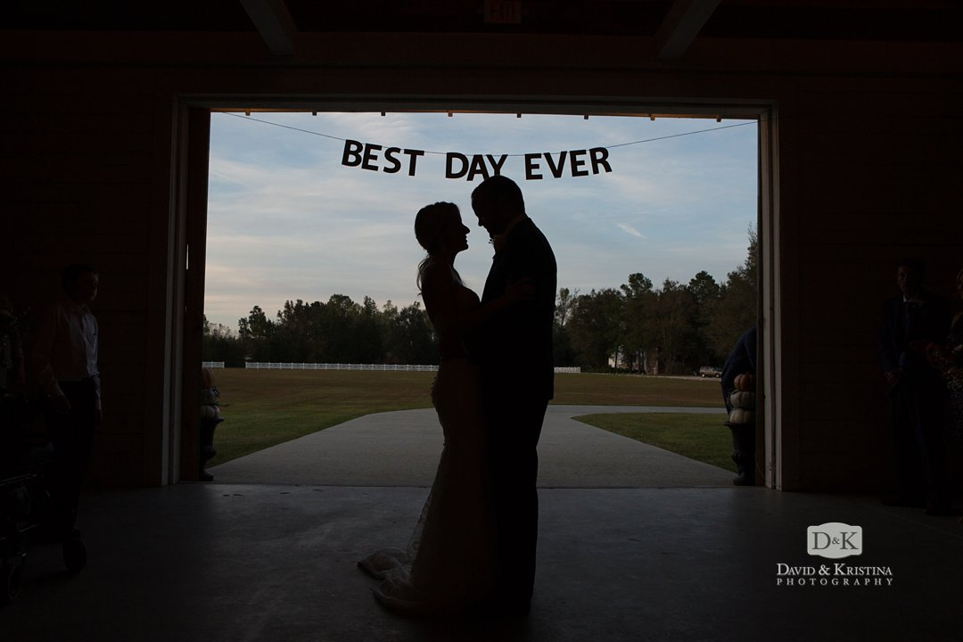 best day ever sign hanging at wedding
