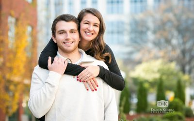 Winter Engagement Photos in Downtown Greenville | Cody and Christen