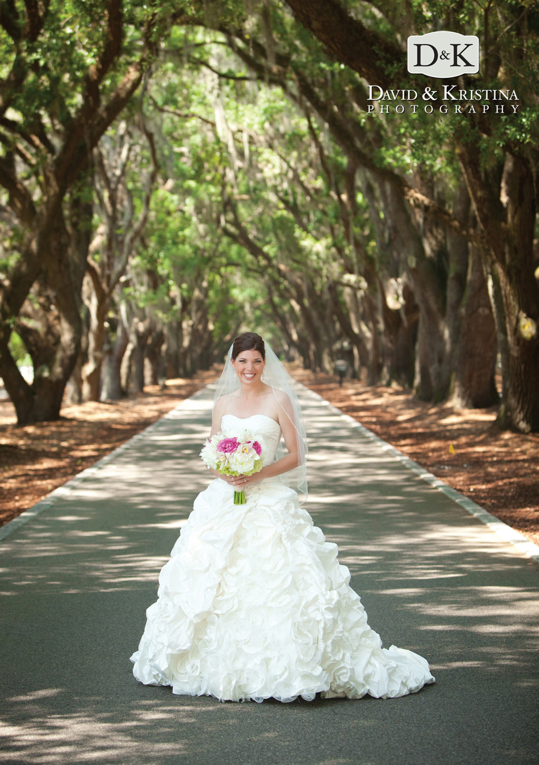 bridal portrait at Belfair Plantation