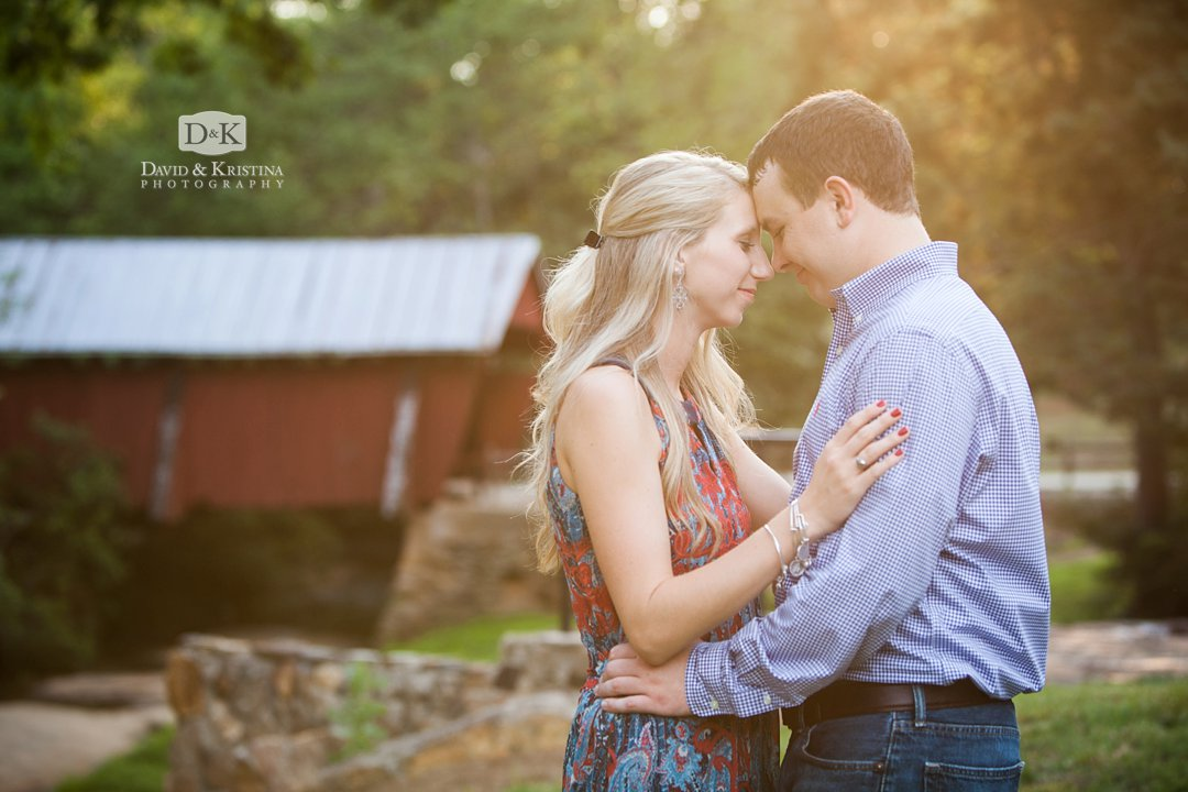 Campbell's Covered bridge engagement photo session in Summer