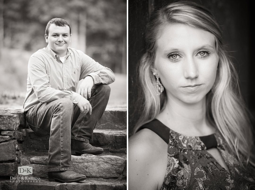 individual portraits of Cody Gasque and Amber Wiggins