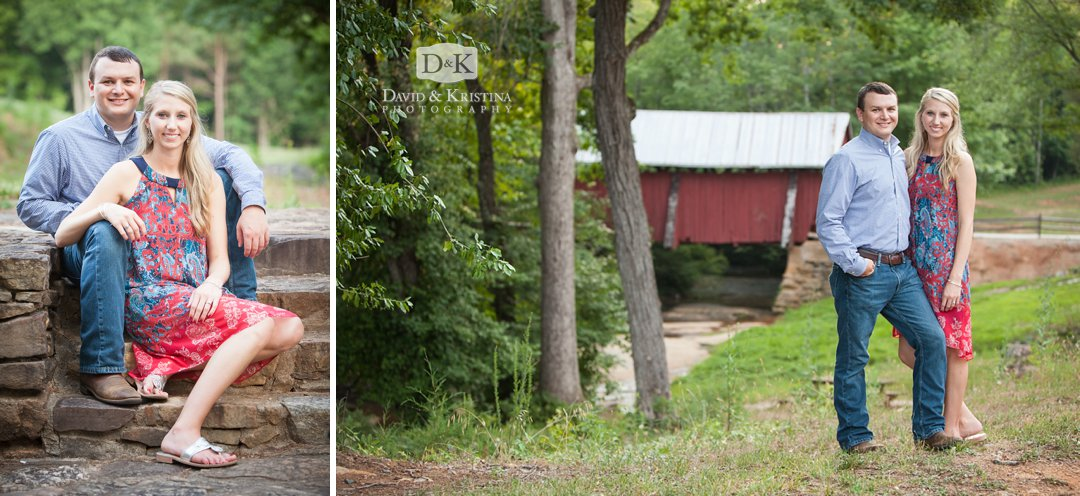 Campbell's Covered Bridge engagement photos
