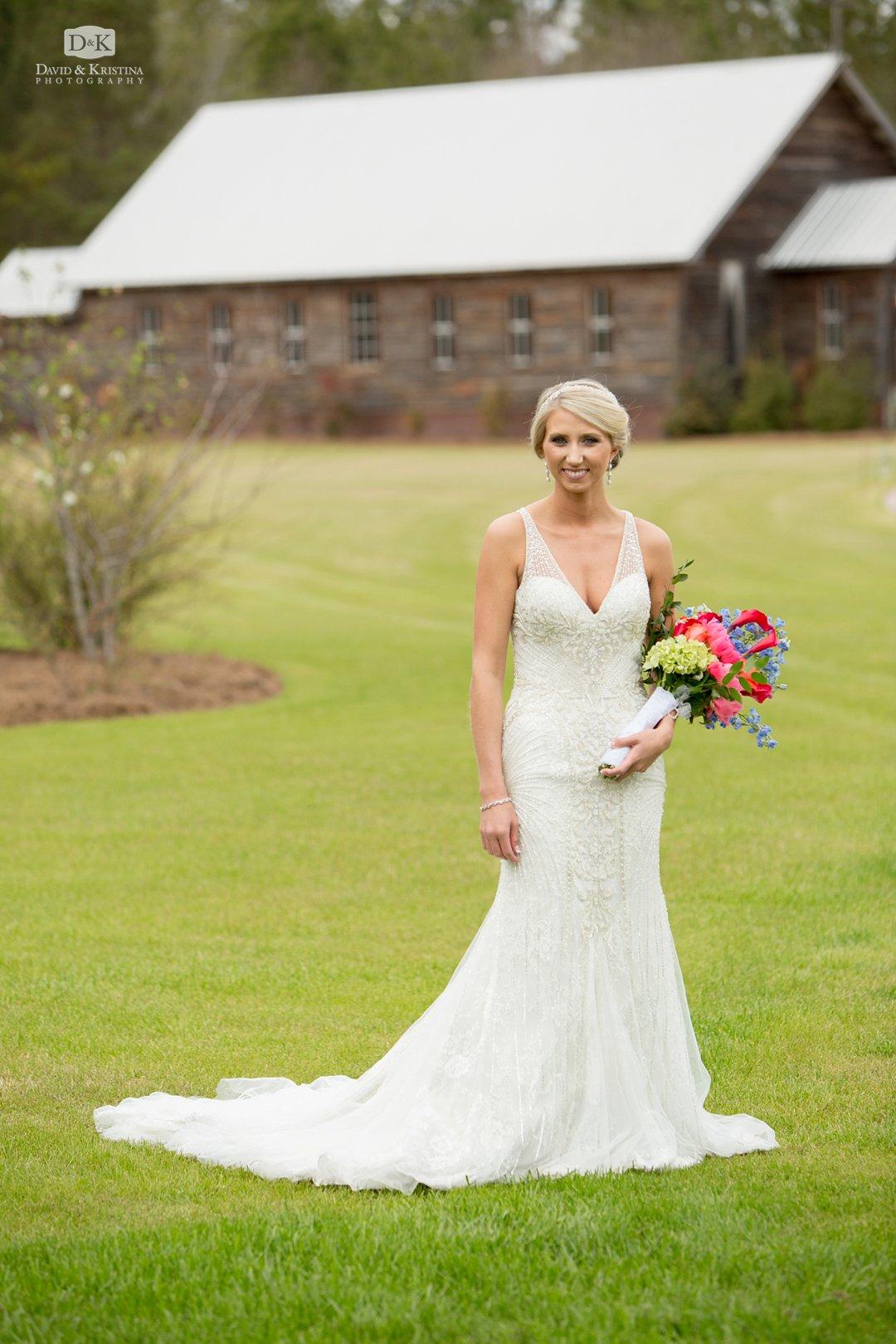 Amber in wedding dress