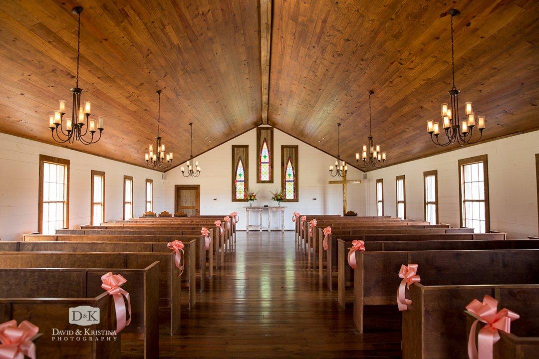 inside Hidden Acres wedding chapel