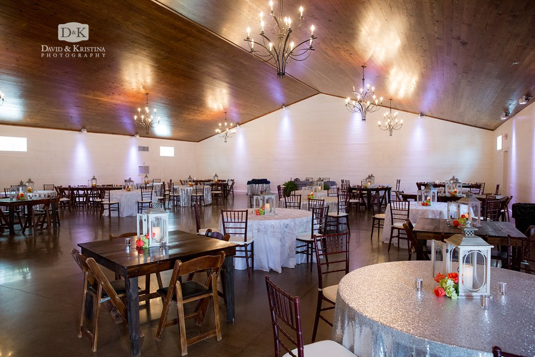 Hidden Acres wedding reception