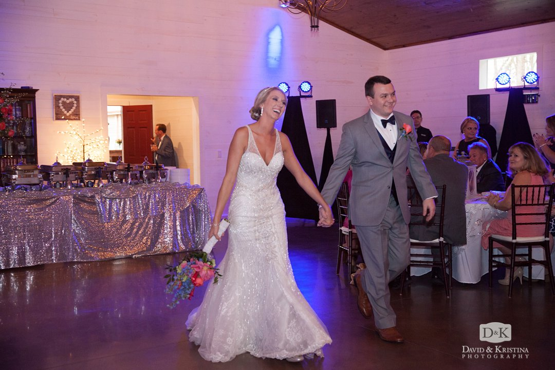 cody and amber enter reception