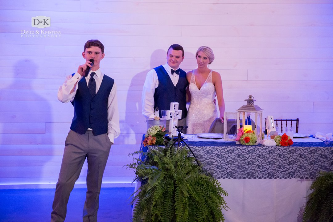toast by brother of the groom