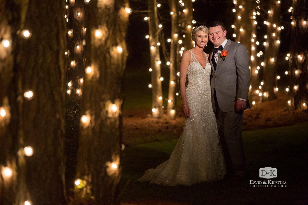 night photos at Hidden Acres wedding