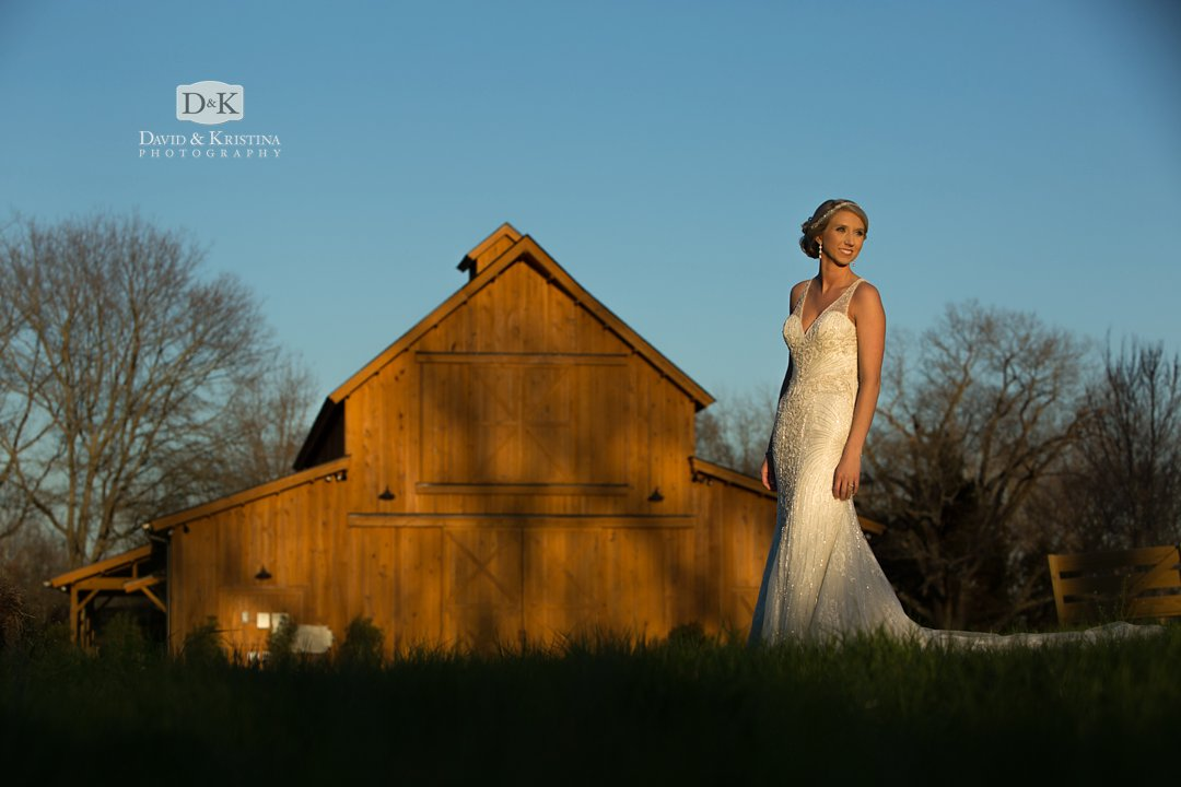 Windy Hill wedding and event barn venue bridal portrait