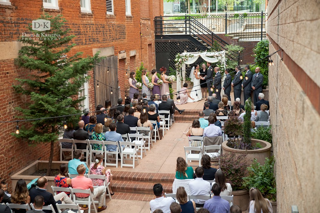 Larkin's courtyard wedding at Larkin's on the River Greenville SC