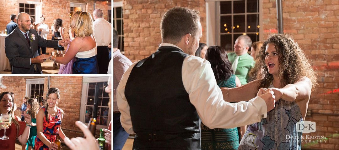 dancing at Larkin's wedding reception