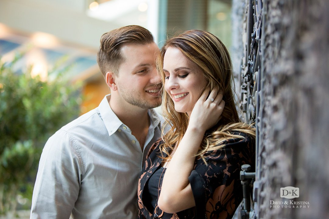 Greenville's One Plaza engagement photo