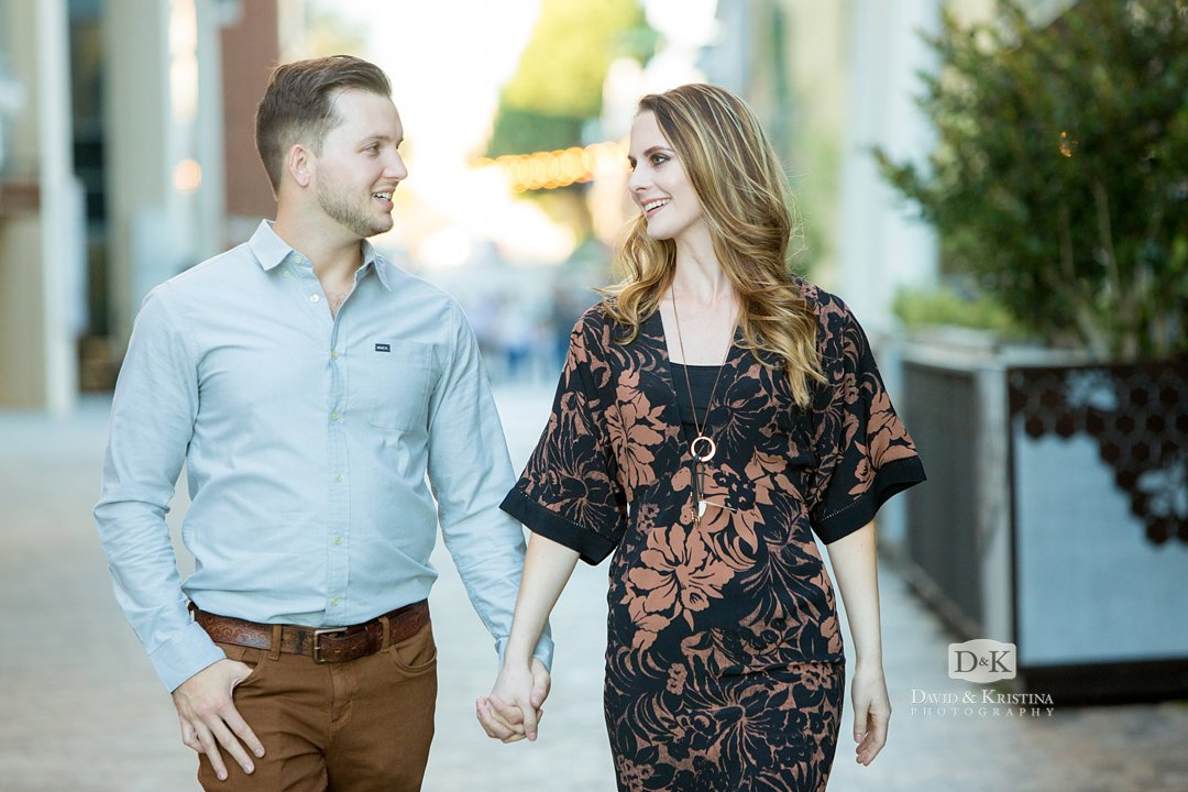 Engagement photos at Aloft Hotel Greenville SC