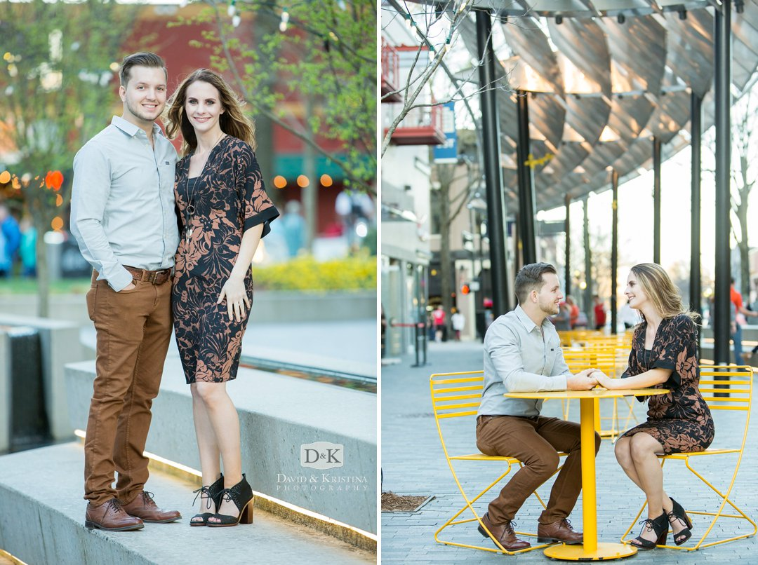 Greenville's One Plaza engagement photos
