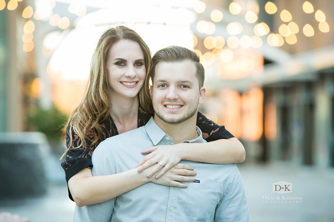 Engagement photo at One Plaza Greenville, SC