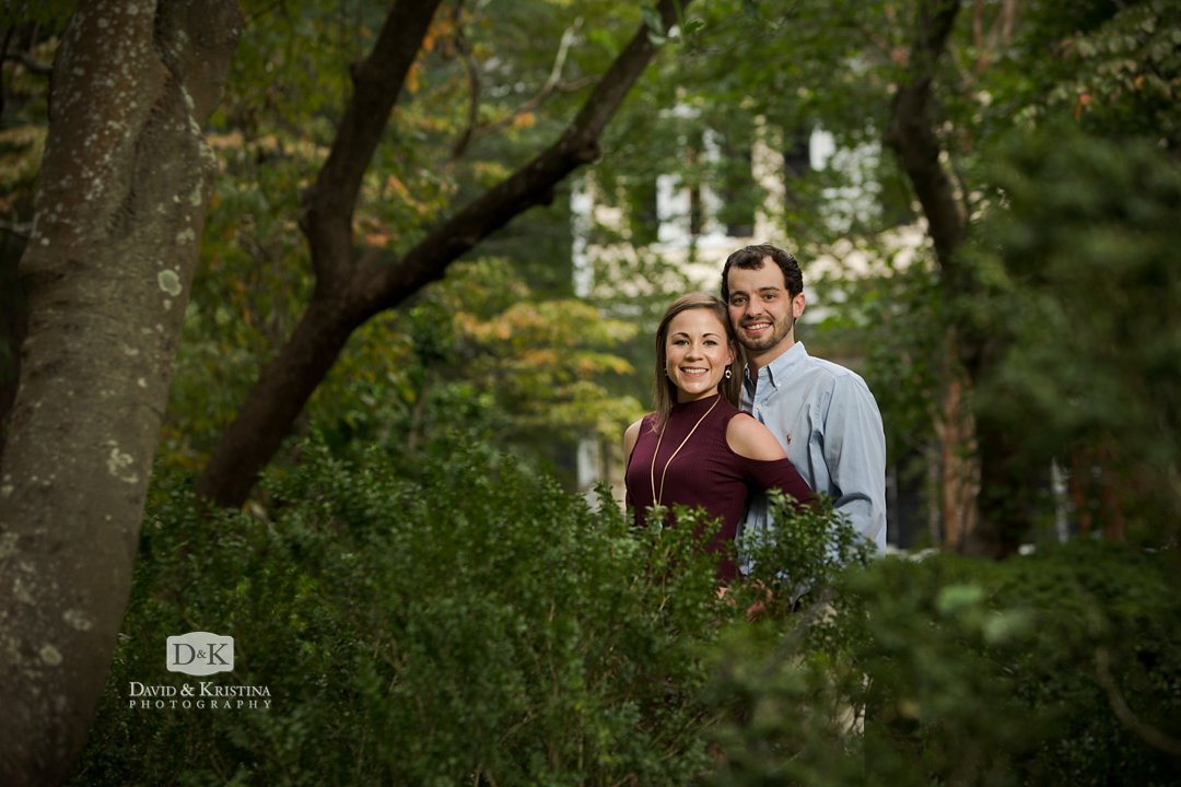 Lace House Gardens engagement photo shoot