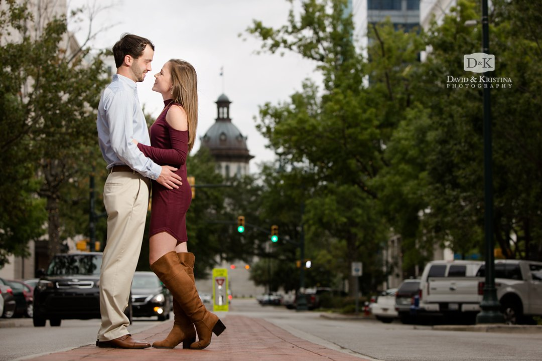 SC State House view from main street engagement photos