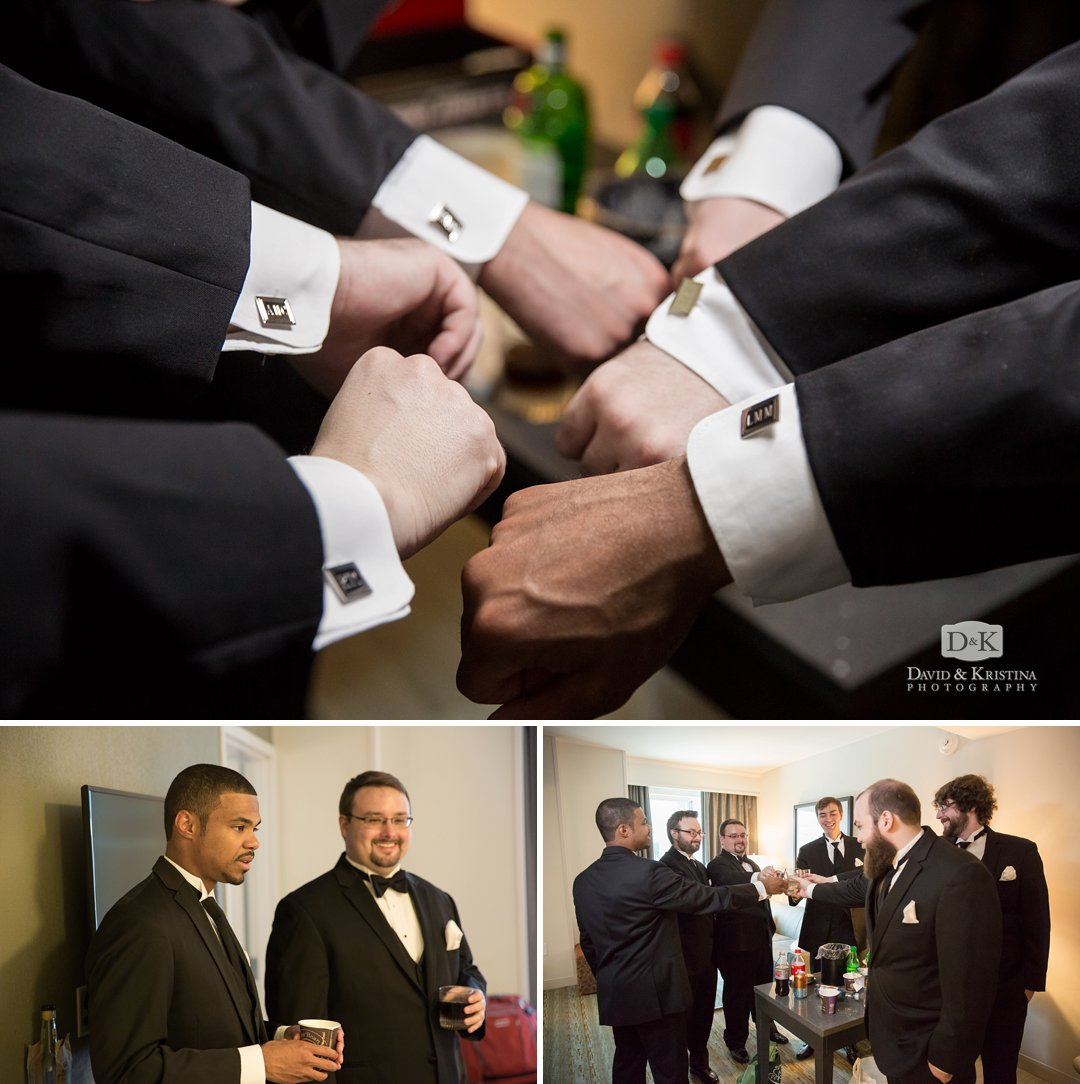 monogramed cufflinks for groomsmen