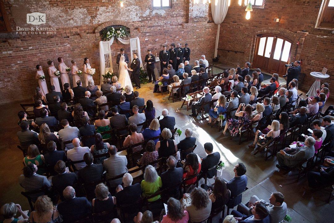 Old Cigar Warehouse wedding ceremony