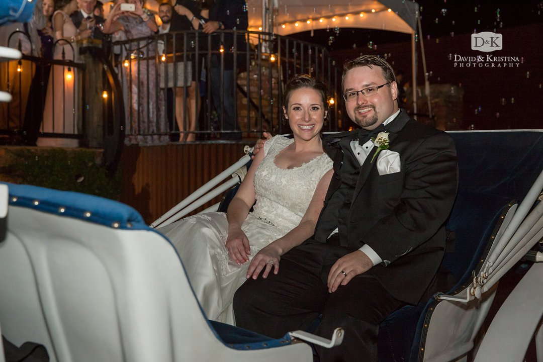 Horse and Carriage Exit from Old Cigar Warehouse Wedding