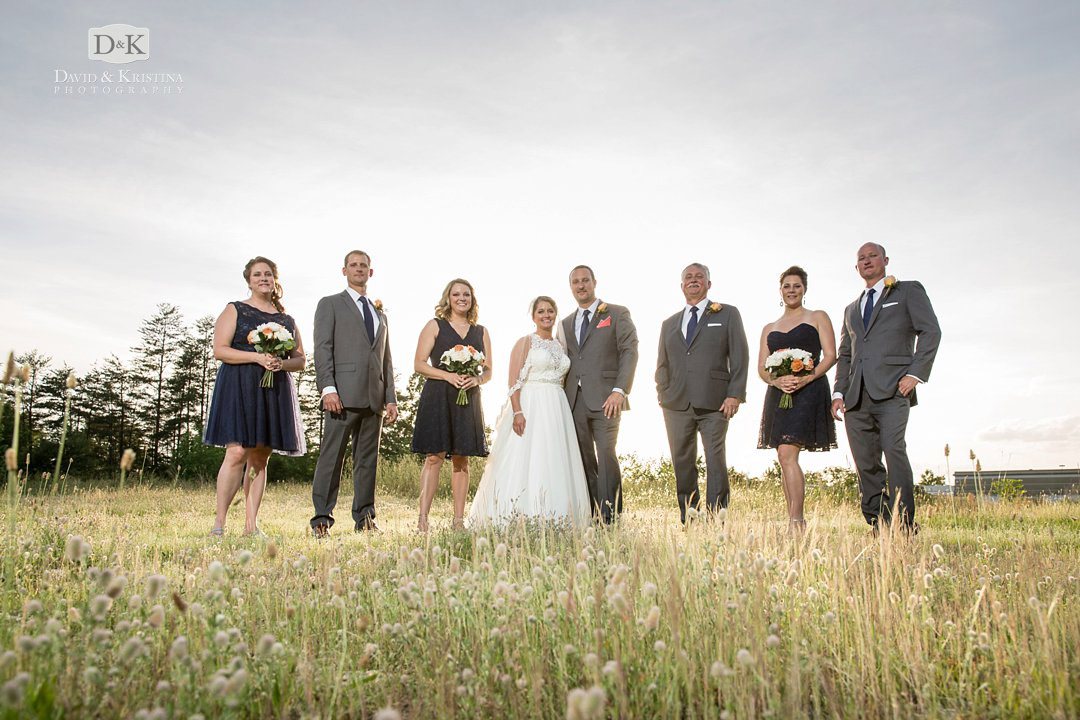 Twigs Tempietto Wedding photos in field