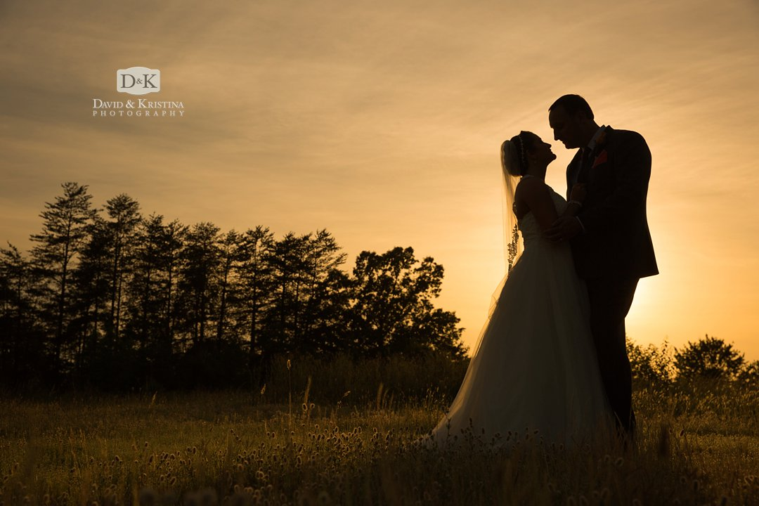 sunset silhouette wedding photo at Twigs Tempietto