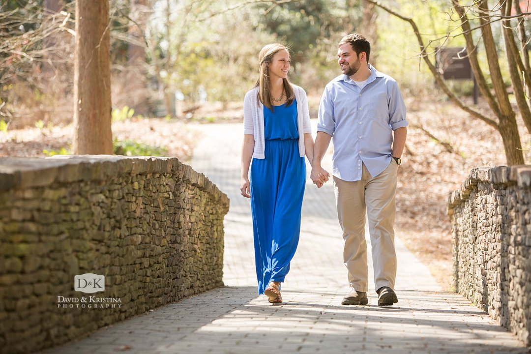 Rob and Amanda's Clemson Botanical Gardens Engagement Photo