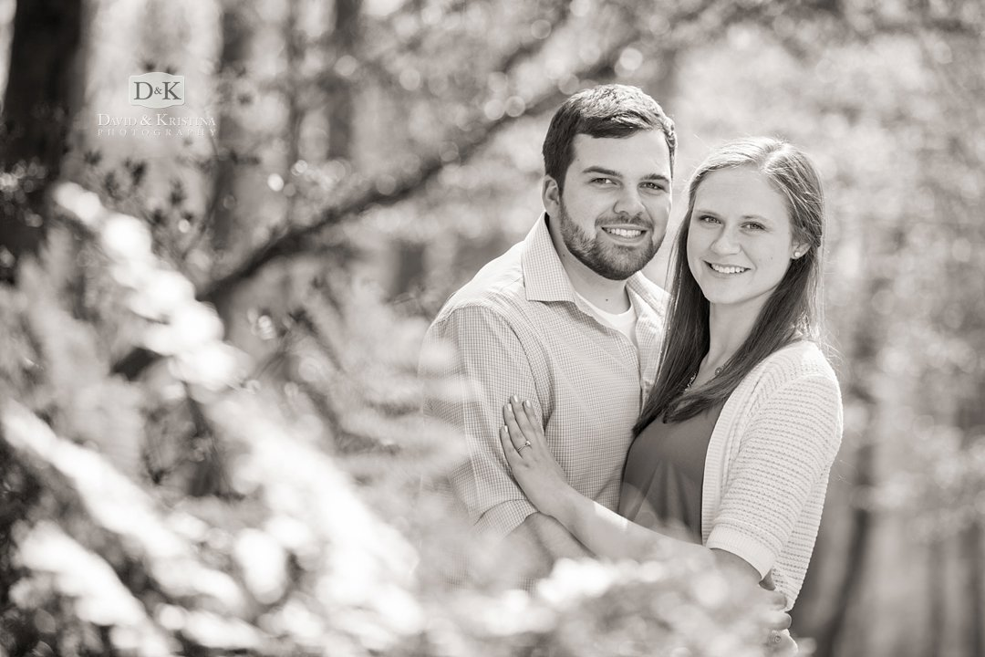 Rob and Amanda in the Clemson Botanical Gardens