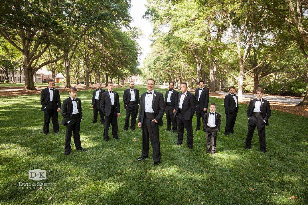 groomsmen at Furman