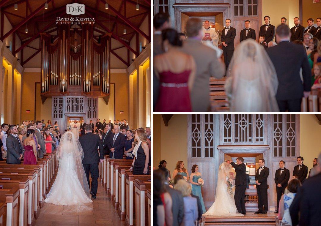 dad walks bride down the aisle