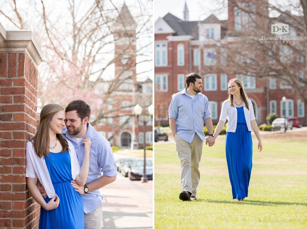 Clemson engagement photos at Tillman Hall
