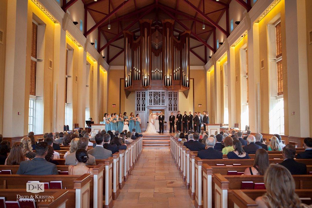 wedding at Daniel Chapel Furman University