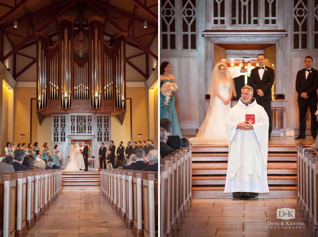 Father Pat officiates wedding at Furman University