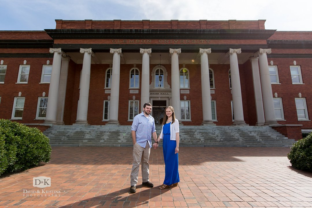 Engagement photo at Sikes Hall