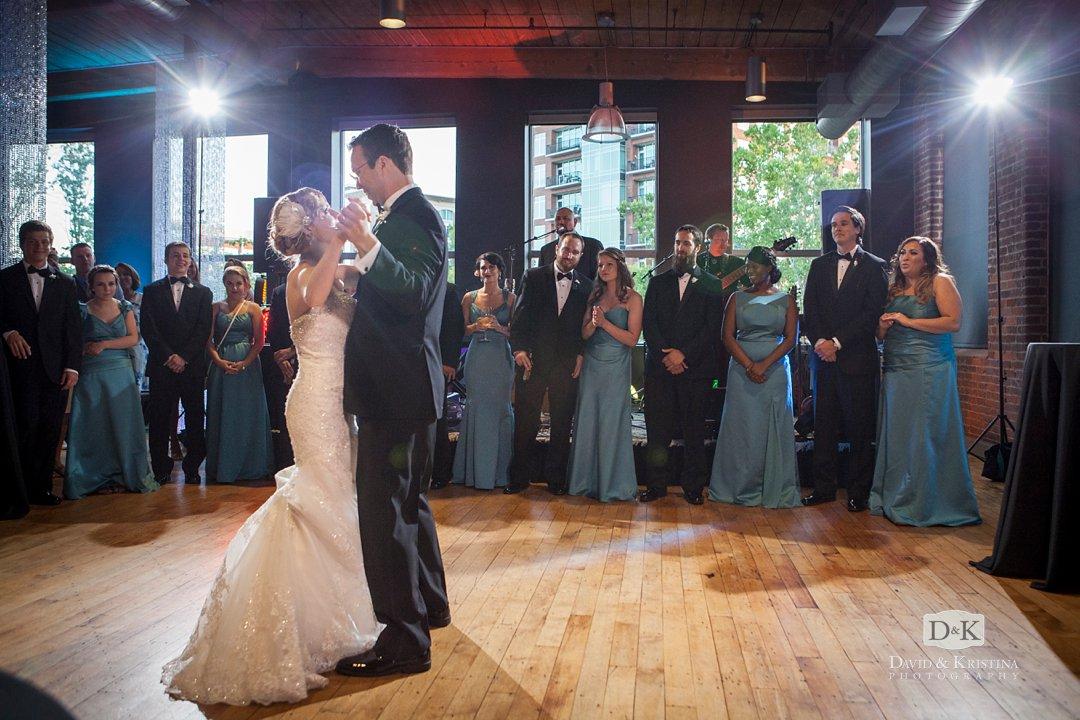 Huguenot Mill Loft wedding first dance