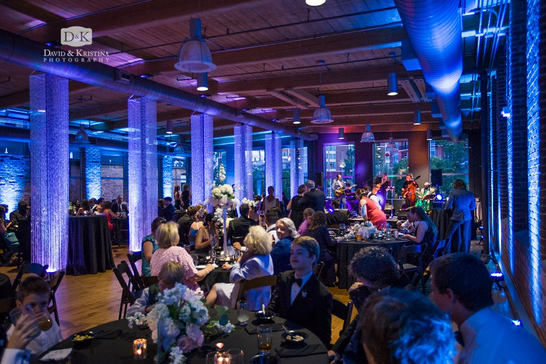 Huguenot Mill Loft wedding reception