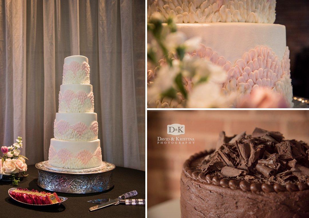wedding cake at Peace Center Huguenot Mill Loft