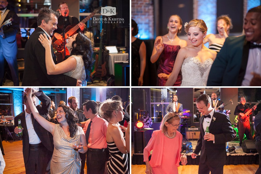 dancing at Huguenot Mill Loft wedding reception