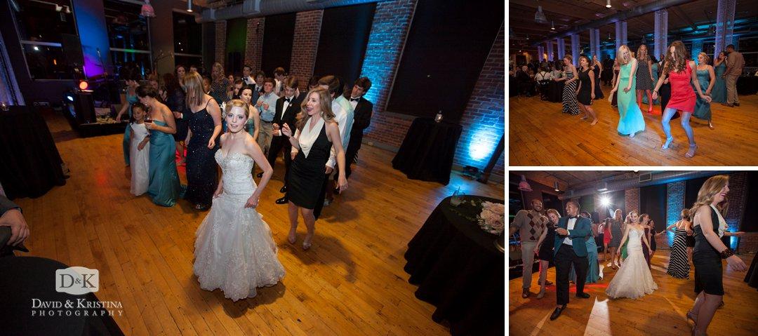 dance floor at Peace Center Huguenot Mill Loft