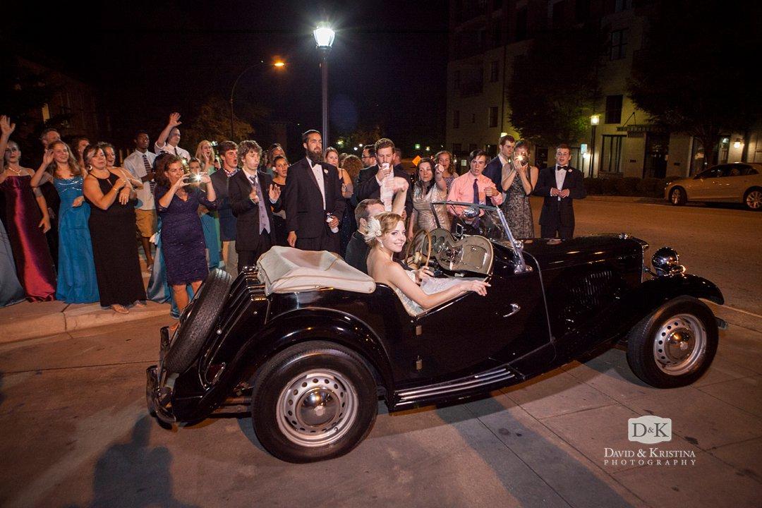 1950 MG getaway car for bride and groom