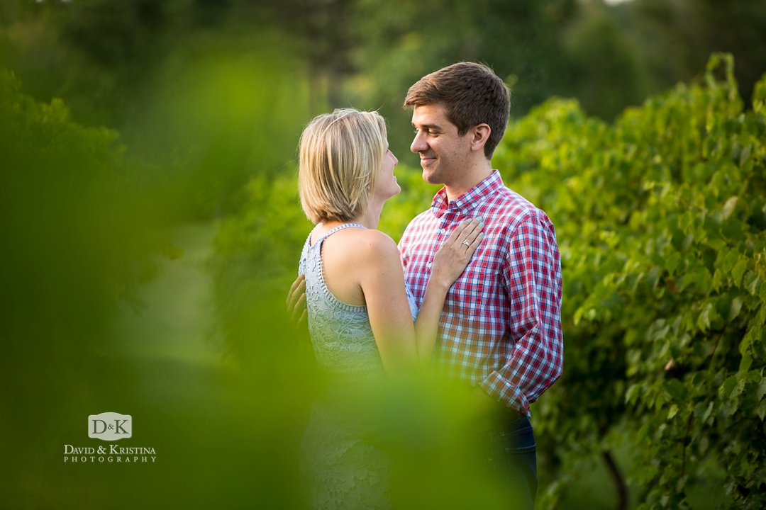 Ben and Shannon in the vineyard
