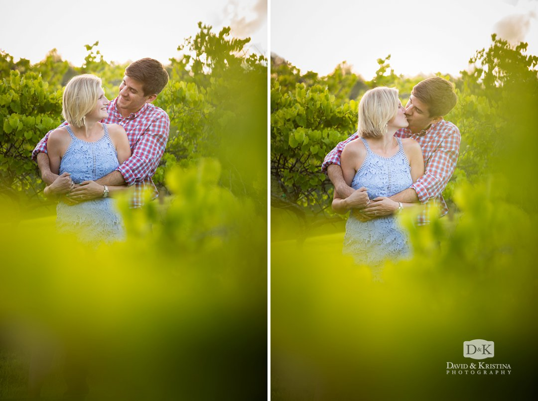 kissing between the vines
